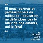Joignez le mouvement : le 1er septembre, protégeons nos écoles publiques! > https://t.co/4OTov9rbE5 #JPMEP #polqc http://t.co/j7CuwqjEww