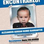 #AyudanosAEncontrarlo, Alexander Adrian Romo Bassantes se extravió en #Quito. Recompensa 200.000 dólares. http://t.co/m0PnFmGWtS
