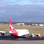 Engineers looking at Qantas A380 forced to land in #perth after tech issue mid flight. @9NewsPerth the latest at 830 http://t.co/jwej62leaF
