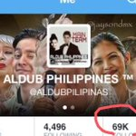 Thank you ALDUB NATION 69K napala :) Expect This Account that Continues To bring Aldub news ! #ALDUBTheREVELATION http://t.co/eqoF31N7rL