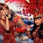 More photos of Taylor Swift and Nicki Minaj performing together on #VMAs http://t.co/acluEmwBoo