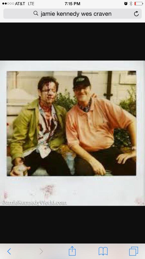 I wud have no career if it were not for WES CRAVEN. Thank you for believing in me and giving me a chance. #nowords http://t.co/dNseHweJcF