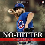 He does it! Cubs P Jake Arrieta (12 K, 1 BB) no-hits the Dodgers in a dominant 2-0 win! http://t.co/LlYyaD7a33