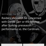 #raiders poll: should Oakland be concerned with Derek Carr or the offense after tonights preseason game? http://t.co/4pNqfnm1X1
