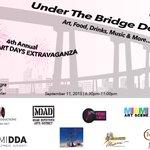 Kick-off #DwnTwnArtDays Under The Bridge @MccormickPlaceM Sept.11 from 6-11pm @DWNTWNarts --> http://t.co/6CdqkrDixN http://t.co/YB48kObQYr