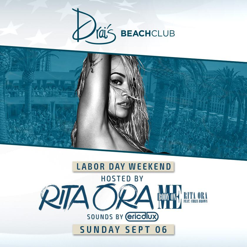 RT @DraisLV: ⭐️JUST ANNOUNCED⭐️ @RitaOra returns to host #DraisLDW next Sunday feat sounds by @EricDlux TIX http://t.co/thIVwYmzLZ http://t…