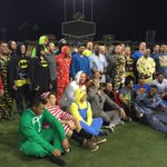 Cubs departing Dodger Stadium, headed for overnight flight to Chicago, on Joe Maddons Onesie trip http://t.co/1BBFwd4sge
