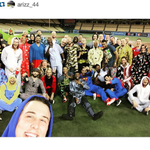 The Cubs get ready for their late plane ride by wearing onesies. What a night for that team. (via arizz_44/Instagram) http://t.co/MI7uSyqeb4