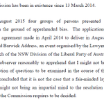 Dyson Heydon to remain as Trade Union Royal Commissioner - heres a summary of his reasons #auspol #turc http://t.co/duX6LsDc56