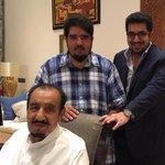 """صورة التقطت قبل ساعات لخادم الحرمين الشريفين #الملك_سلمان مع الأمير عبدالعزيز بن فهد، والأمير نواف بن فيصل .  - http://t.co/n1sL9v07kd"""""""