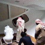 """صور .. """"مصلى"""" داخل هلال برج الساعة بـ #مكة_المكرمة . #مكة #برج_الساعة #الصلاة - http://t.co/6ufzv6OWF9"""