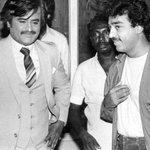 Superb click, #Kamal during Vikram (1986) and Rajini during Mr Bharath (1986)? http://t.co/Y0e1tLgeSz