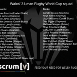 📝 Wales reveal their 31-man Rugby World Cup squad  🏉 These are the men who will carry a nations hopes… #RWC2015 http://t.co/dDuPGCYzy5