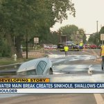 Sinkhole that swallowed car in Boulder not expected to be fixed until about 10am - http://t.co/jODd1lzGWI http://t.co/82gMmxDeeg