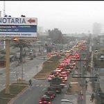 AHORA: Alto tránsito vehicular en av. Regimiento Arica desde Andrés Juliá en dirección poniente / 8:28 hrs, http://t.co/8P0DYmshZc