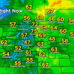 Temps are pretty nice on this Monday morning. Yesterday was toasty, today well be a little cooler. Hooray! #cowx http://t.co/xwWtdOYWRR
