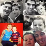 """Tw Coleen (wife Wayne Rooney): """"Brilliant weekend in Barcelona! Thanks @3gerardpique, Kai had the best time ever!????"""" http://t.co/dvChYQ997Y"""