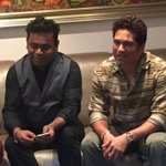 RT @sachin_rt: Met the music maestro @arrahman over the weekend. Enjoyed hosting him for lunch at home with some chat - Dil se!! http://t.c…