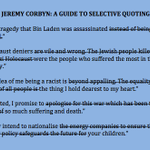 Jeremy Corbyn: a guide to selective quoting. http://t.co/bxJKOwS9OD