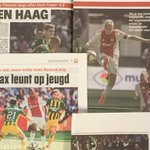 Vandaag in de ochtendkranten: 'Ajax swingt aan de hand van Klaassen.'  http://t.co/9Rsg6C1z3S #ajaado