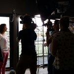 Jeuh! Vandaag werken we met 13-voudig wereldkampioen Marianne Vos aan een film voor een financiële dienstverlener. http://t.co/sanguzMen5