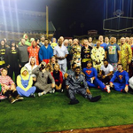 Why are the #ChicagoCUbs wearing pajamas? A PJ party of course! #9newsmornings #9Sports http://t.co/qWuMXxQ4ha