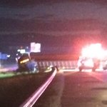 Told by police to back up... Heres a look at crashed truck. I-75 south is shut down at Bonny Oaks. http://t.co/5N1ZPCMdxF