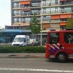 Albert Heijn in Hendrik Ido Ambacht is ontruimd vanwege een gaslekkage. De brandweer heeft water scherm geplaatst. http://t.co/FNUOSO3Bna