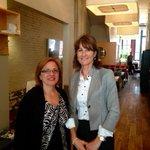 Heureuse de rencontrer la Min. de limmigration de Nouvelle-Écosse, @LenaDiabMLA pour discuter enjeux communs! #polqc http://t.co/EKNNAkGGou