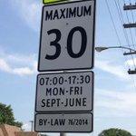 Don't forget – school zone speed limits go into effect tomorrow! Maximum 30 km/hr #Winnipeg http://t.co/S7PFog6VQP