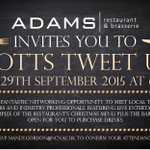Septembers #NottsTweetUp @ncn_Adams supporting the #Hospitality Students of #Nottingham #canapés #LiveMusic + more! http://t.co/vdt6UG2NAV