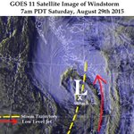 A satellite shot of the powerful #Windstorm that rocked #Vancouver on Sat #BCstorm http://t.co/7HhhaFBbCq