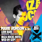 Dont miss Rocks legend @MarkRonson back in Ibiza with @lionbabe on 09 September. Tickets: http://t.co/k350hlyZ2y http://t.co/e6zkIStjnE