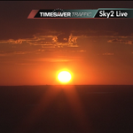 Deep rich orange glow now. What a great sunrise this morning! Shot from #Sky2. @ch2daybreak http://t.co/0rQQMfNBnh