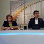 @Miguelpereirasv alcalde de San Miguel por @FMLNoficial y Milagro Navas alcaldesa Antiguo Cuscatlán http://t.co/HibYlpJvOO frente a frente