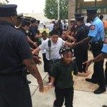 "Wilmington firemen greet kids at EastSide Charter School. ""Were gettin hyped,"" @WilmFireChief shouts. #FirstDayDE http://t.co/jqupRHzUIc"
