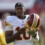 """""""This is a big blow to RGIII's career in Washington""""-@criscarter80 on Redskins naming Kirk Cousins starter for Week 1 http://t.co/kYE9RLl9SA"""