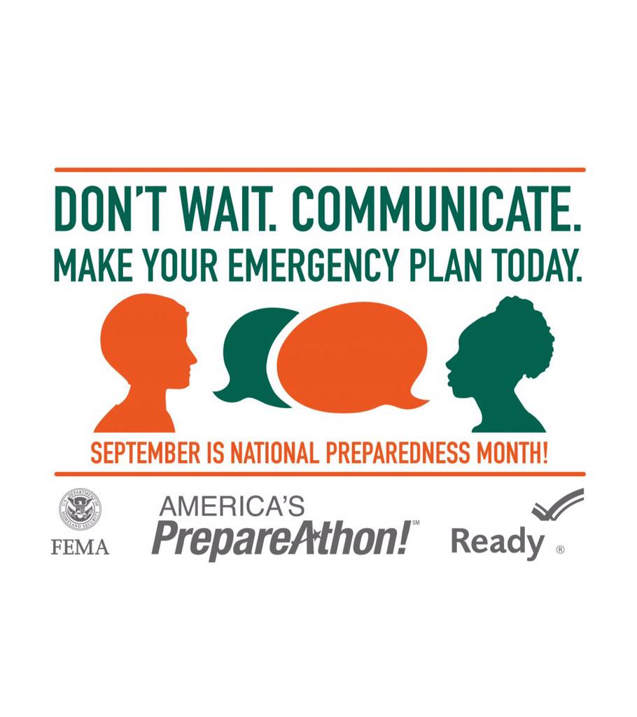 September is #NatlPrep Month http://t.co/UKy4CcRWvr Don't Wait. Communicate. Make your Emergency Plan Today http://t.co/8g6ZeO7EbC