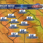 6 AM...mid 60s in #Fresno, plenty of 50s! #cawx #yourcentralvalley http://t.co/k6J0hrw1Ek