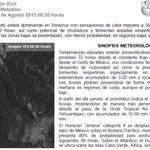 #BoletínMeteorológico Lluvias vespertinas en montaña esta tarde, con ambiente generalmente cálido en #Veracruz http://t.co/HJflZSJJS3
