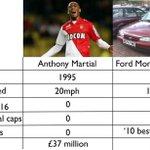 COMPARISON: Anthony Martial vs Ford Mondeo. (via @jonnot) http://t.co/K6POQ0O78g