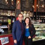 Avec Michel Filion, candidat du @BlocQuebecois à St-Hyacinthe - Bagot #PolQc #Polcan #elxn42 http://t.co/gFeiLWmRS8