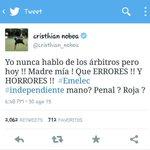 Tras polémico arbitraje contra #Emelec de #JoséLuisEspinel, #CristhianNoboa se pronunció al respecto. DB http://t.co/KEVMEnyJSi