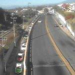 Carga vehicular en Circuito Presidentes, lateral del Puente para incorporarse a la Av. Murillo Vidal en #Xalapa http://t.co/tc4IB03pXO