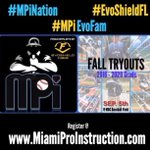 MPi / @EvoShieldFL Tryouts Sat. Sept. 5th REGISTER TODAY!! #MPiNation #EvoShieldFL Come join the #MPiEvoFam!! http://t.co/mpoUdekTn1
