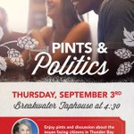 Well see you on Thursday at the @BreakwaterTap! #tbay #cdnpoli http://t.co/63csNqG1Bj