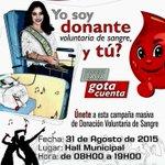 Únete a la campaña #DonaciónDeSangre motivada por la @ReinaDeLoja @Saisga  @gaby_guarderas @14karyc @LilianJaramill5 http://t.co/XCrlBLvuLg