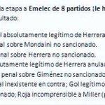 Gracias a @amarriott84 recordamos los errores arbitrales en contra de @emelec, solo en la 2da etapa http://t.co/uau3ypuX0l