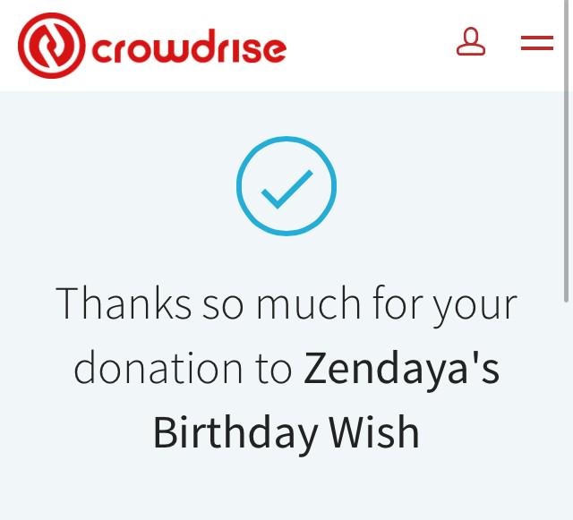 @Zendaya @crowdrise @UNAIDS just donated
