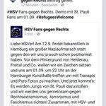 Wenn HSV- und St.Pauli-Fans gemeinsame Sache machen, muss es was sehr wichtiges sein. http://t.co/WJHyRfRaxM